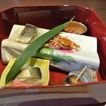 下田セントラルホテル - 前菜5種盛り合わせ開いて