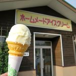グリーンホリデー - シングルアイスクリーム(350円)