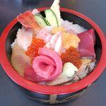 竹鮨 - 特上生ちらしのアップ