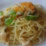 マルゲリータ - 料理写真:アカニシ貝とシラスのペペロンチーノ