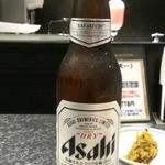 銀座 天一 - ビールはアサヒスーパードライ小瓶378円