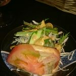 領山 - カレーセットのサラダ。