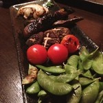 炭火 かず家 - 野菜焼き〜❗️