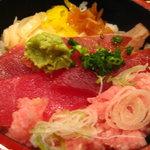 活 大江戸 - まぐろ三種丼500円