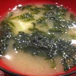 活 大江戸 - 海苔のお味噌汁