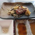 40776011 - 鉄板焼きの最後は博多和牛の焼き上がりです。
