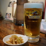 麺肴 ひづき - 生中(550円)