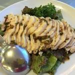 レイクサイドホテル みなとや - 料理写真:蒸し鶏の特製ソース