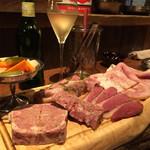 40795850 - シャンパーニュと肉前菜盛合せ