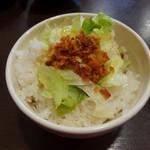 ホワイト餃子 - 油ご飯