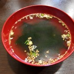 ホワイト餃子 - スープ