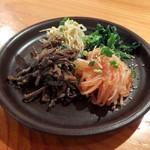 韓国料理・炭火焼肉 大使館 - ナムル盛り合わせ