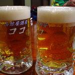 居酒屋ココ - 生ビール