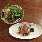 カフェ ラ・ボエム - ランチ・セットの前菜とサラダ