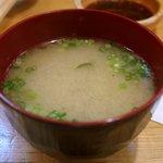 とんかつ武蔵 - 味噌汁
