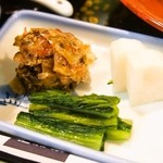 稚加榮 - 和定食(お漬物)
