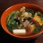 蕎麦 惠土 - そばがき(鴨汁仕立て)