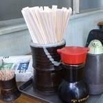 あきば食堂 - 醤油とソース