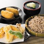 七福 弁天庵 - いかと季節野菜の天ぷらせいろと弁天いなり