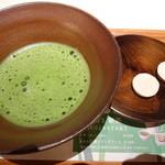 40816943 - 抹茶(ホット)和三盆付