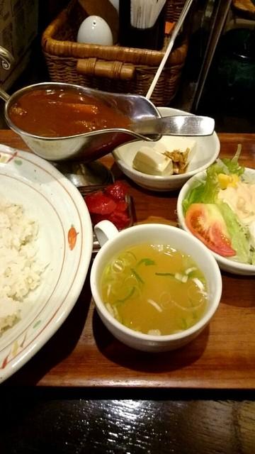 カフェビアンコ - ランチセット『自家製辛口カレーライス』¥700-