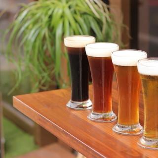 静岡を中心に国内外の生樽クラフトビールが常時14種以上!!