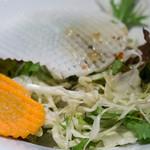 山根屋 - ランチセットのサラダ