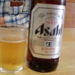 宮本旅館 - 瓶ビール(uruさんにピントが^^;)