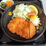 レストラン利根 - ロースカツ定食 820円
