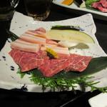 Matsunagabokujou - 炭火焼コンビランチ 1300円