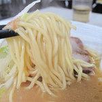 節道 - チャンポン麺よりは細めってカンジの中華麺です。カタでお願いしましたが、ベストのアルデンテでした。