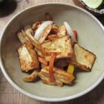 u-ma kagurazaka - キノコと厚揚げのピリ辛味噌炒め