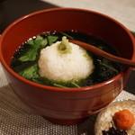 禅紫 - 15.08 生海苔のお茶漬け(しぐれ)
