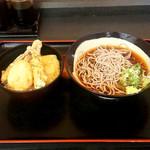 せんねんそば - 野菜天丼セット(480円)