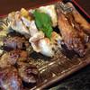 めんどり屋 - 料理写真:ミックスから揚げ定食(からあげ、砂ずり竜田、手羽先パリパリ揚げ)