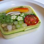 40843796 - 野菜のテリーヌ(¥4000コース)