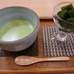 松鶴園 - 茶摘みセット(抹茶+抹茶ゼリー)