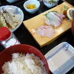 佐島かねき - しこ鰯の天ぷら定食