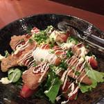 寿司・居酒家 海福 - マグロホホカツのサラダ
