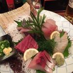 寿司・居酒家 海福 - 刺身5点盛り