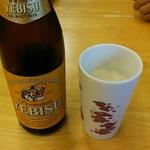 40853239 - 瓶ビールはエビスでした☆ 冷えたグラス◎
