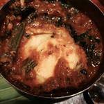 コバラカフェ - ほうれん草のエッグカリー アップ