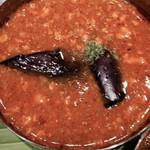コバラカフェ - ナスとひき肉のキーマカリー