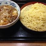 伝丸 - 肉つけ麺   大盛り無料
