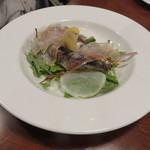 カフェ ブル - 京都産イワシのコンフィのサラダ仕立て、自家製パンチェッタ添え2