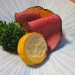 新井旅館 - 強肴:伊豆鹿ロースト 夏野菜 オリーブオイル