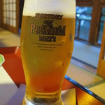 新井旅館 - 湯上りの生ビールはサイコー♪