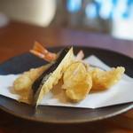 蕎麦切り 旗幟 - 天せいろの天ぷら