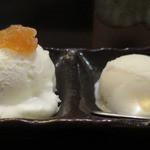 金武 - サウス&ノースのジェラートがコース料理のデザートでした。美味しい!