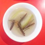 芙蓉菜館 - 中國四川料理芙蓉菜館 ランチのスープ冬瓜とジュンサイ[2015.08]